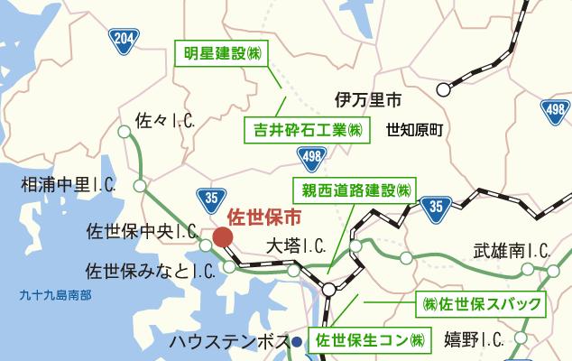 佐世保市マップ