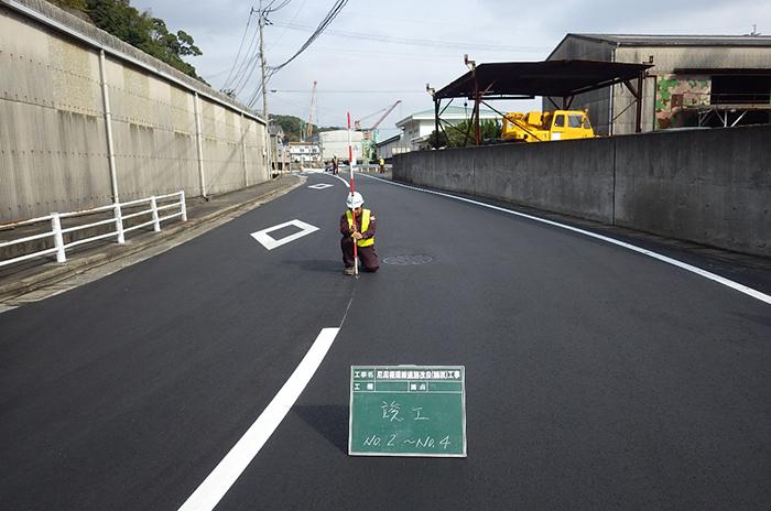 制作例:尼潟循環線道路改良(舗装)工事